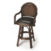 "Butler Specialty Company Leather Designer's Edge 31"" Bar Stool in Dark Brown"