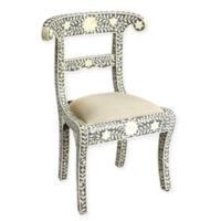 Butler Specialty Company Cotton Bone Inlay Chair in Gray