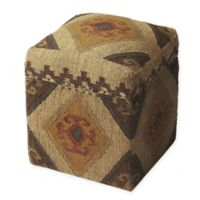 Butler Specialty Company Wool Swivel Mountain Lodge Ottoman in Brown