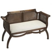 Butler Specialty Company™ Polyester Upholstered Heritage Bench in Dark Brown