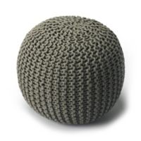 Butler Specialty Company Wool Accent Pouf in Grey