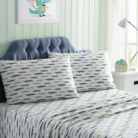 Kute Kids Gators Queen Sheet Set in Green