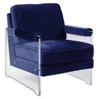 Chic Home Velvet Rodric Chair in Navy