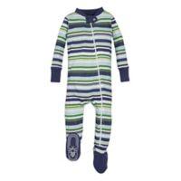 Burt's Bees Baby® Size 12M Vintage Stripe Footie in Green