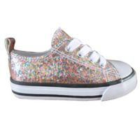 Child's Size 7 Girls Fashion Glitter Shoes in Multicolor