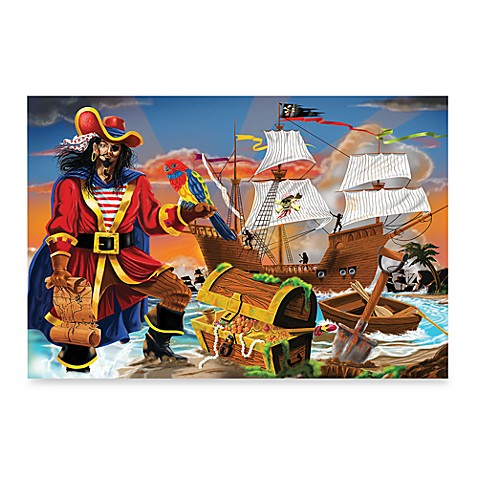 Buy melissa doug pirate 39 s bounty 100 piece floor puzzle for 100 piece floor puzzles