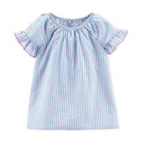 carter's® Size 2T Chambray Stripe Top