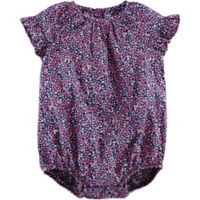carter's® Size 9M Ruffled Floral Bodysuit in Navy