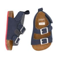 carter's® Size 9-12M Cork Sole Sandals in Navy