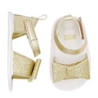 carter's® Size 6-9M Glitter Sandals in Gold