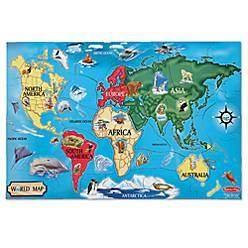 Melissa doug world map 33 piece floor puzzle bed bath beyond product image for melissa doug world map 33 piece floor puzzle gumiabroncs Gallery