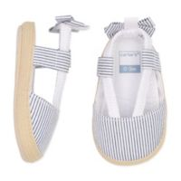 carter's® Size 6-9M Striped Bow Espadrilles