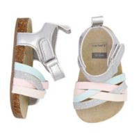 carter's® Size 9-12M Cork Sole Sandals in White