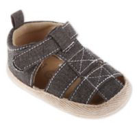 Stepping Stones Size 0-3M Canvas Espadrille Sandals in Grey