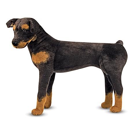 melissa doug rottweiler dog giant stuffed animal bed bath beyond. Black Bedroom Furniture Sets. Home Design Ideas