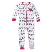 Lamaze® Size 18M Squiggly Print Organic Cotton Footed Pajama in White