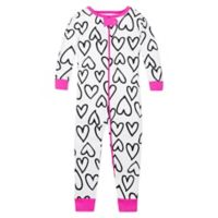 Lamaze® Size 12M Sketch Hearts Print Organic Cotton Pajama in White