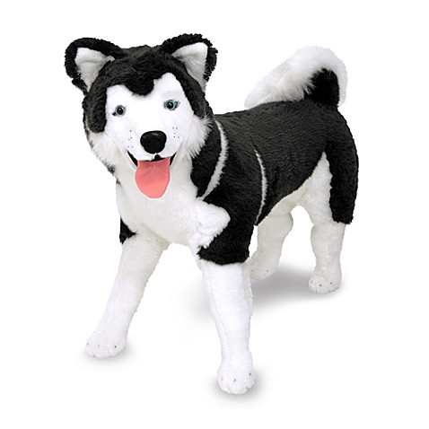 Melissa Amp Doug 174 Husky Dog Giant Stuffed Animal Bed Bath