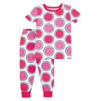 Lamaze Size 12M 2-Piece Watermelon Organic Cotton Pajama Set