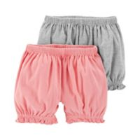 Little Planet™ Organic by carter's® Newborn 2-Pack Shorts in Grey/Pink