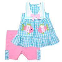 Nannette Baby® Size 0-3M 2-Piece Sailor Collar Top and Seersucker Short Set