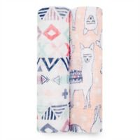 aden + anais® Trail Blooms 2-Pack Swaddle Blankets in Pink