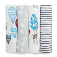 aden + anais® Dream Ride 4-Pack Swaddle Blankets in Blue