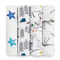 aden + anais® Color Pop 4-Pack Multicolor Swaddle Blankets