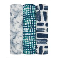 aden + anais® Seaport 3-Pack Swaddle Blankets in Blue
