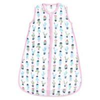 Hudson Baby® Size 0-6M Cactus Muslin Sleeping Bag in Green/Pink