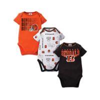 NFL Bengals Size 0-3M 3-Pack Bodysuit