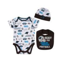 NFL Panthers 0-3M 3-Piece Bodysuit Set