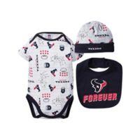 NFL® Detroit Lions Size 0-3M 3-Piece Bodysuit Set