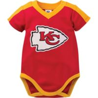NFL Kansas City Chiefs Size 0-3M Short-Sleeve Bodysuit Set
