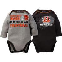 NFL® Cincinnati Bengals Size 18M 2-Pack Long Sleeve Bodysuits