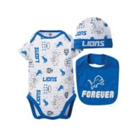 NFL® Detroit Lions Size 3-6M 3-Piece Bodysuit Set