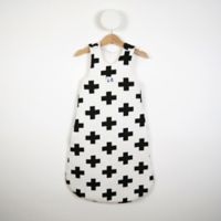 Size 12-24M White Cross Print Sleeping Bag in Black/White