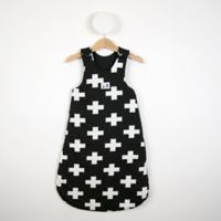 Size 12-24M Black Cross Print Sleeping Bag in Black/White