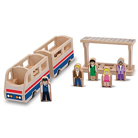 Melissa & Doug® Whittle World in Train Platform Playset