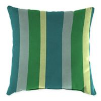Stripe Outdoor 20-Inch Square Throw Pillows in Sunbrella® Fabric