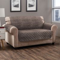 Prism Secure Fit Loveseat Protector in Mocha