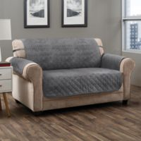 Prism Secure Fit Loveseat Protector in Grey