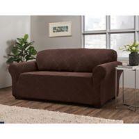 Shapely Diamond Sofa Slipcover in Brown