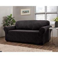 Shapely Diamond Sofa Slipcover in Black