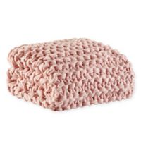 Madison Park Chunky Knit Throw Blanket in Blush