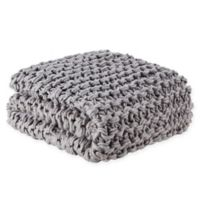 Madison Park Chunky Knit Throw Blanket in Grey