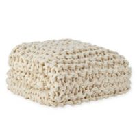 Madison Park Chunky Knit Throw Blanket in Ivory