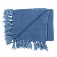 Moe's Home Collection Retreat Reversible Throw Blanket in Blue