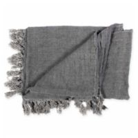 Moe's Home Collection Retreat Reversible Throw Blanket in Charcoal Grey