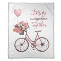 """Designs Direct """"Let's Go Everywhere Together"""" Throw Blanket in Pink"""